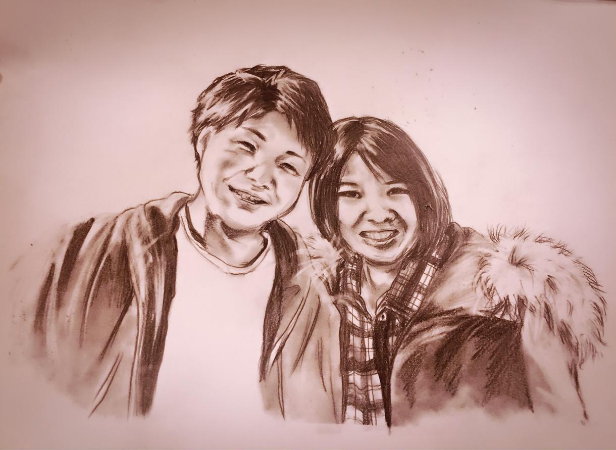 ぬくもり宿る鉛筆画似顔絵。心を込めて描きます 大切な人との大切な時間を一枚の絵に残してみませんか?
