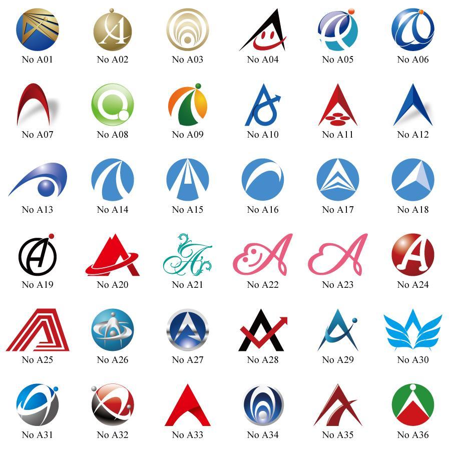 よく使う、頭文字ロゴを販売いたします <A a> (イラストレーターファイル込み)