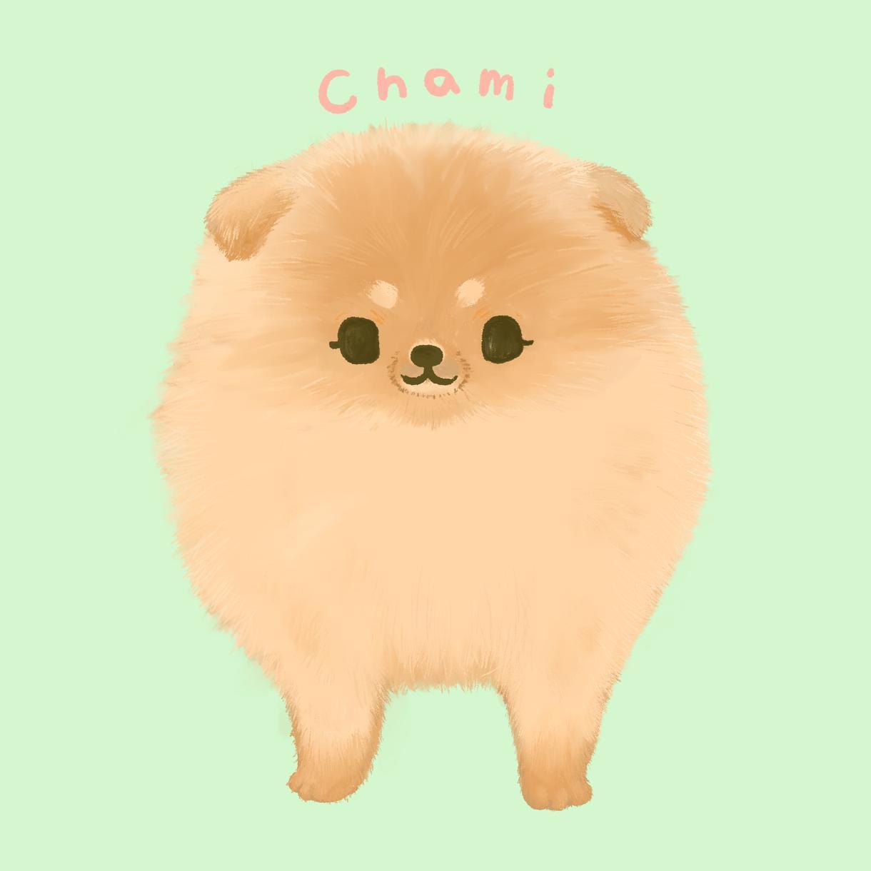 パステル調の可愛いペットのイラストをお描きします SNS用アイコンにも!貴方の大切なペットをイラストに イメージ1