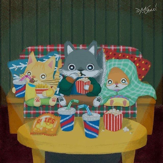 絵本タッチで可愛いイラスト描きます ☆商用、個人用OK☆動物・人間・飲食物など♪