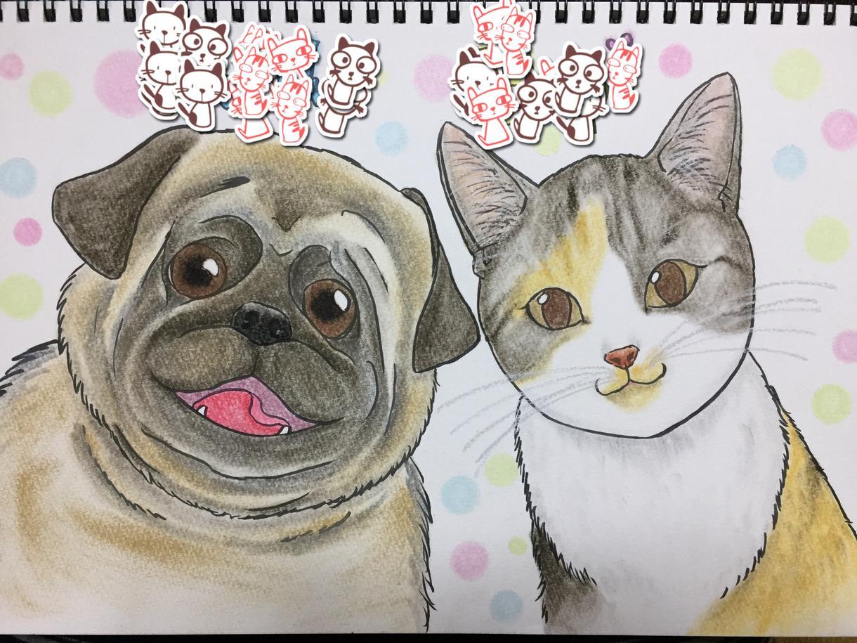 ペットの似顔絵をお描きします ペットを飼っている方、動物が好きな方に♪