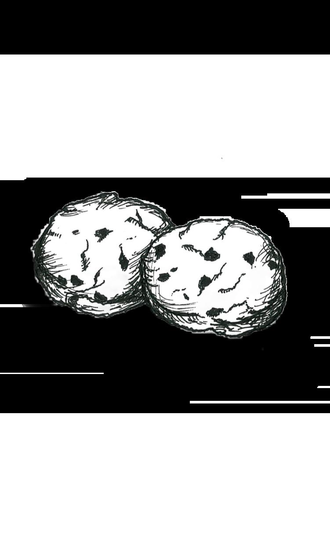 カフェのお品書きやHPにも!!お菓子の絵描きます スタイリッシュな白黒or水彩色鉛筆で暖かみのあるイラストに! イメージ1