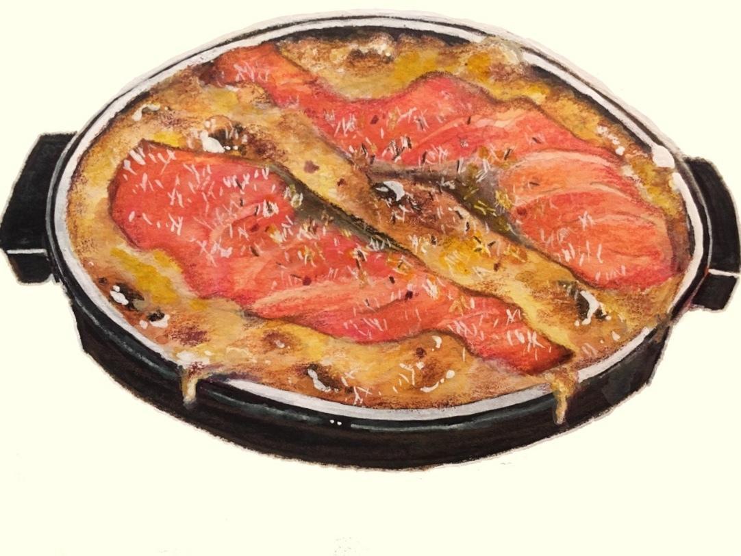 お料理をイラストにします 飲食店のメニュー、広告用に使うイラストとして使いたい方に!