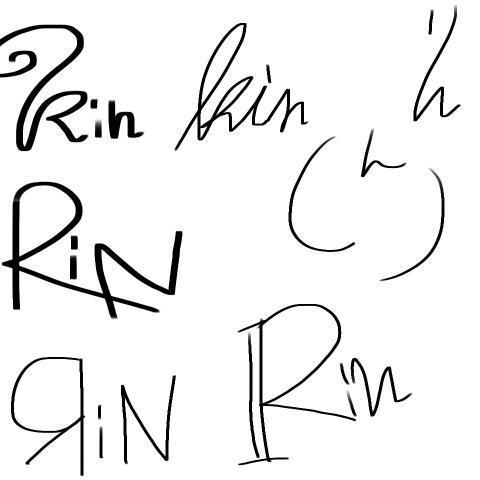 貴方の名前のサイン考えます 自作絵のサインやプリクラ等に!