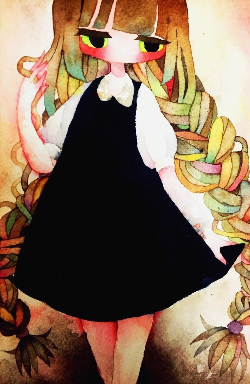 透明水彩であなたのお望みの絵を描きます 絵本のような仄暗くも可愛らしい画風です。 イメージ1
