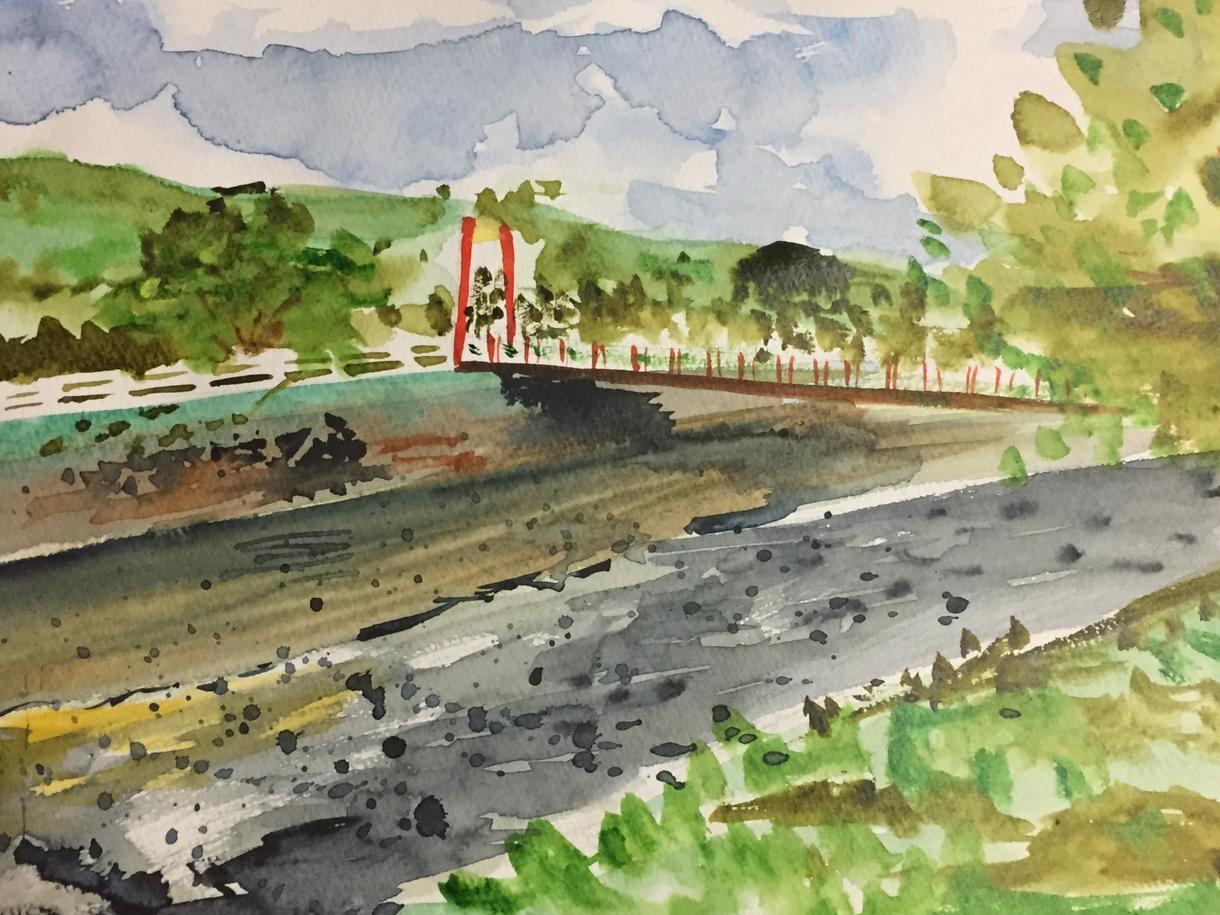 景色の水彩画を簡単に安く描きます 趣味で描いている水彩画を製作します。景色のみ。