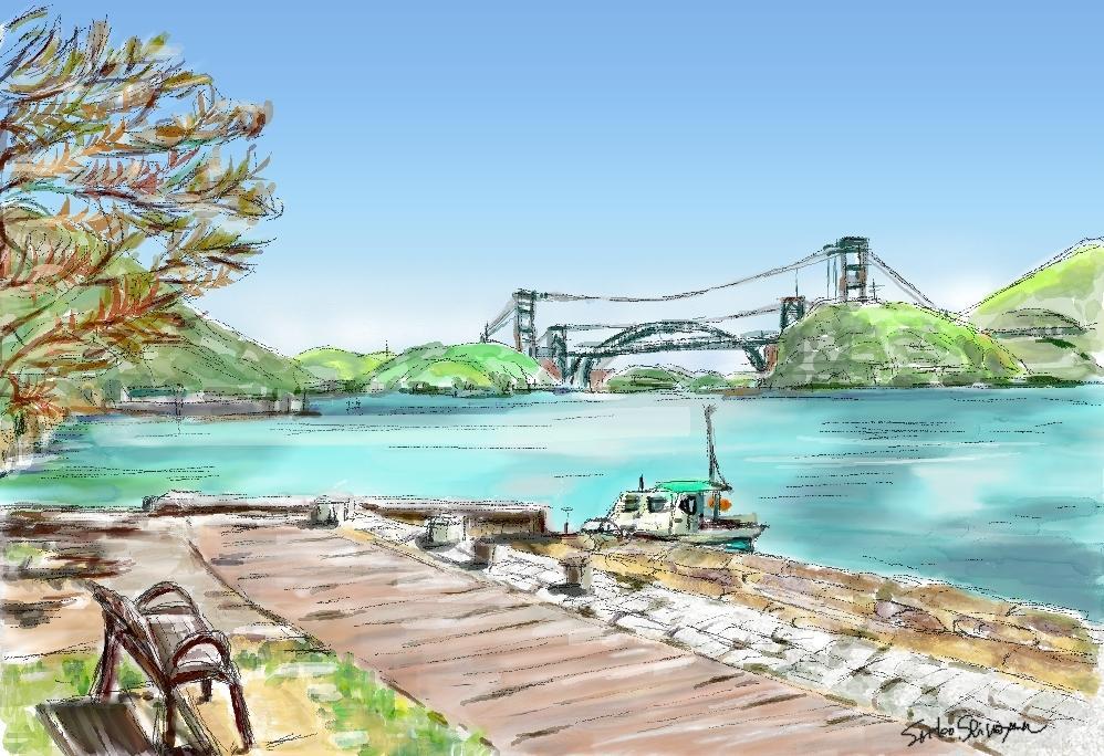 好きな風景をパソコン水彩画で描きます 旅行先の想いでの風景やいつも見る風景を絵葉書にしませんか