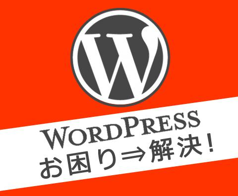 WordPressのお悩み解決&カスタマイズします エラー修正やカスタマイズなどワードプレスの悩みを解決!