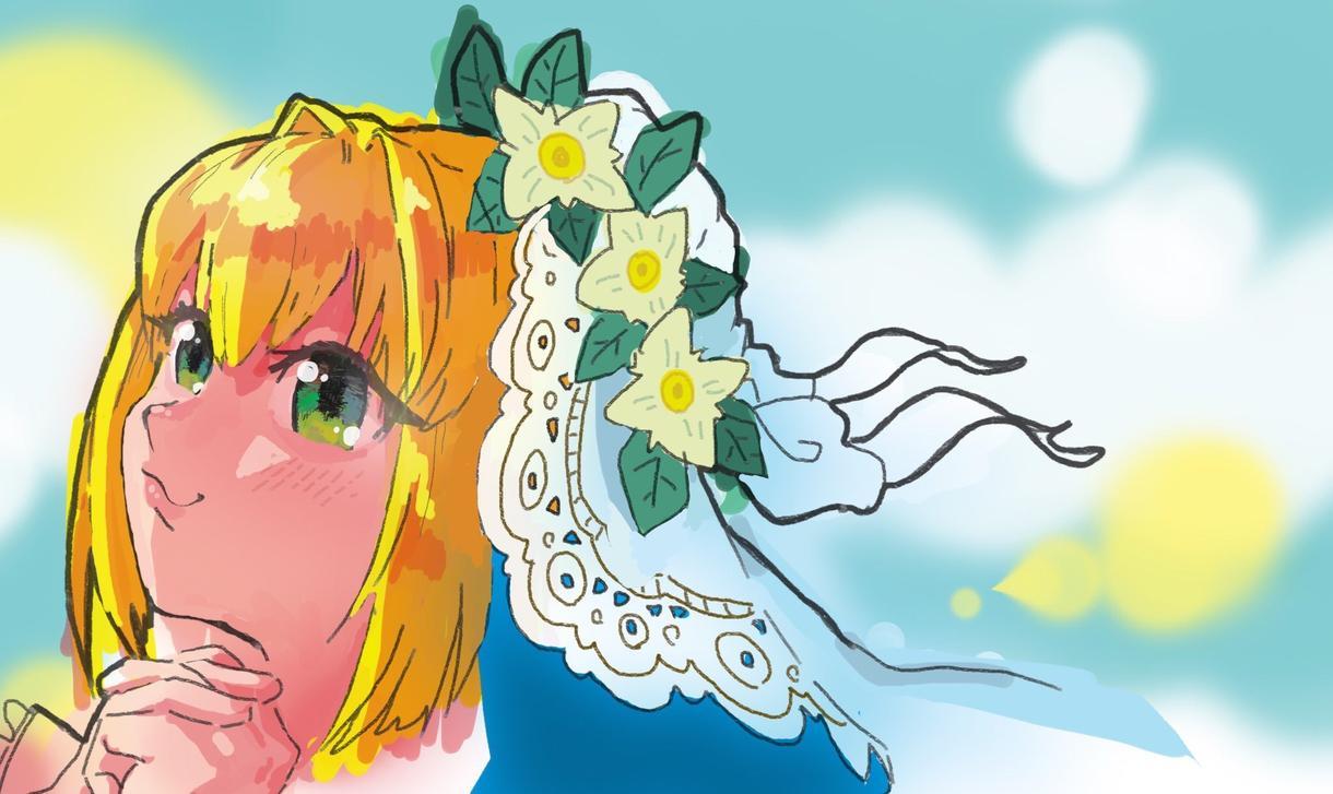イラスト描きます 可愛いアニメ絵の顔イラストが得意です。
