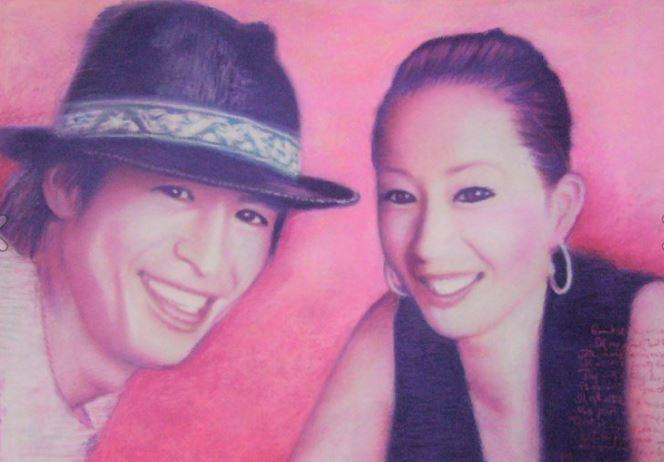 二名様パステルでやさしくあたたかい似顔絵を描きます 二名様。パステルでやさしくあたたかい似顔絵を描きます。