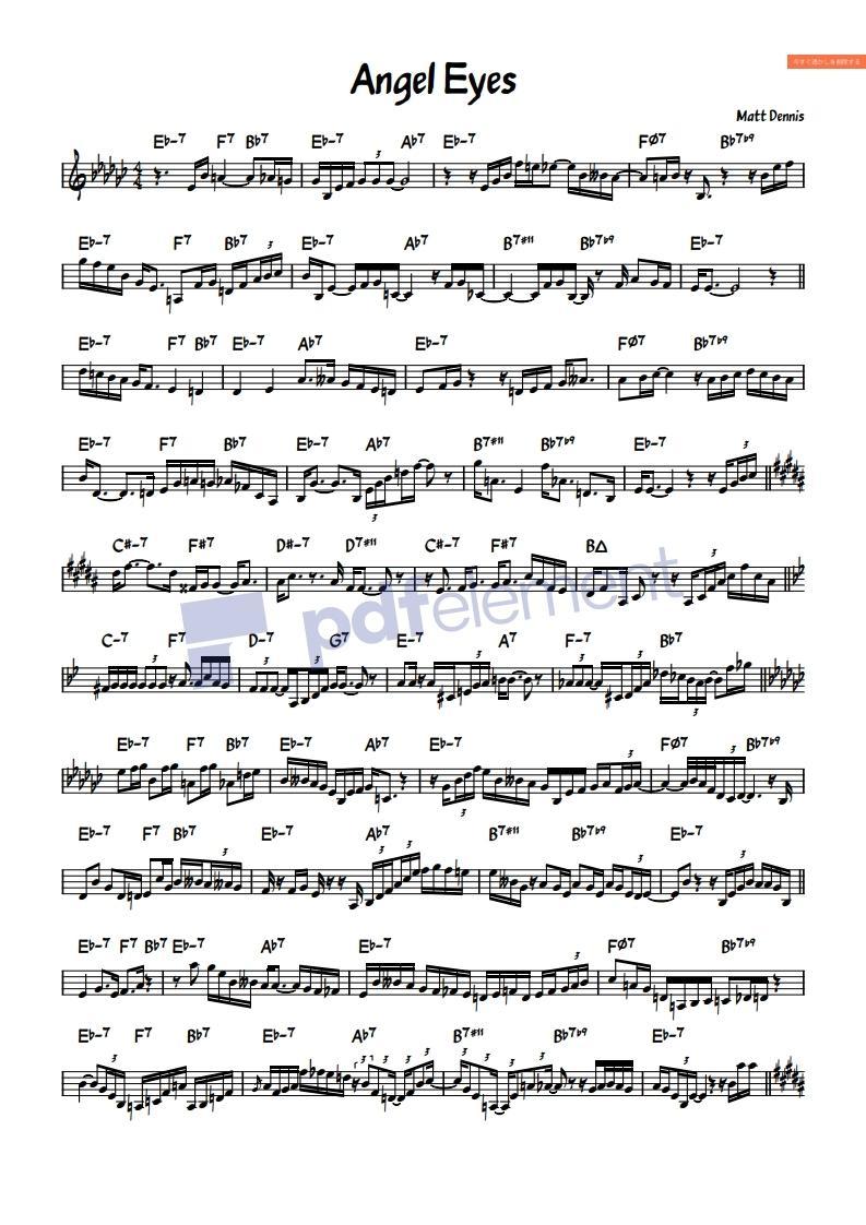 Jazz管楽器アドリブソロ音源を譜面に起こします サックス、トランペット、トロンボーン、クラリネットなど イメージ1