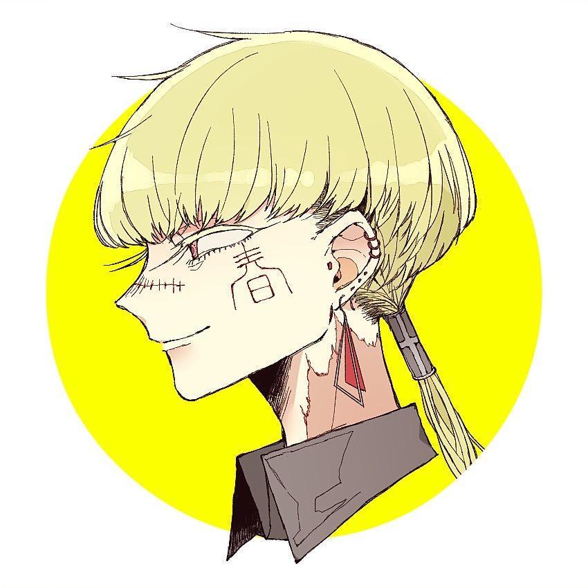 横顔のキャラクターイラスト描きます 、SNSアイコンお描きします!(横顔限定)