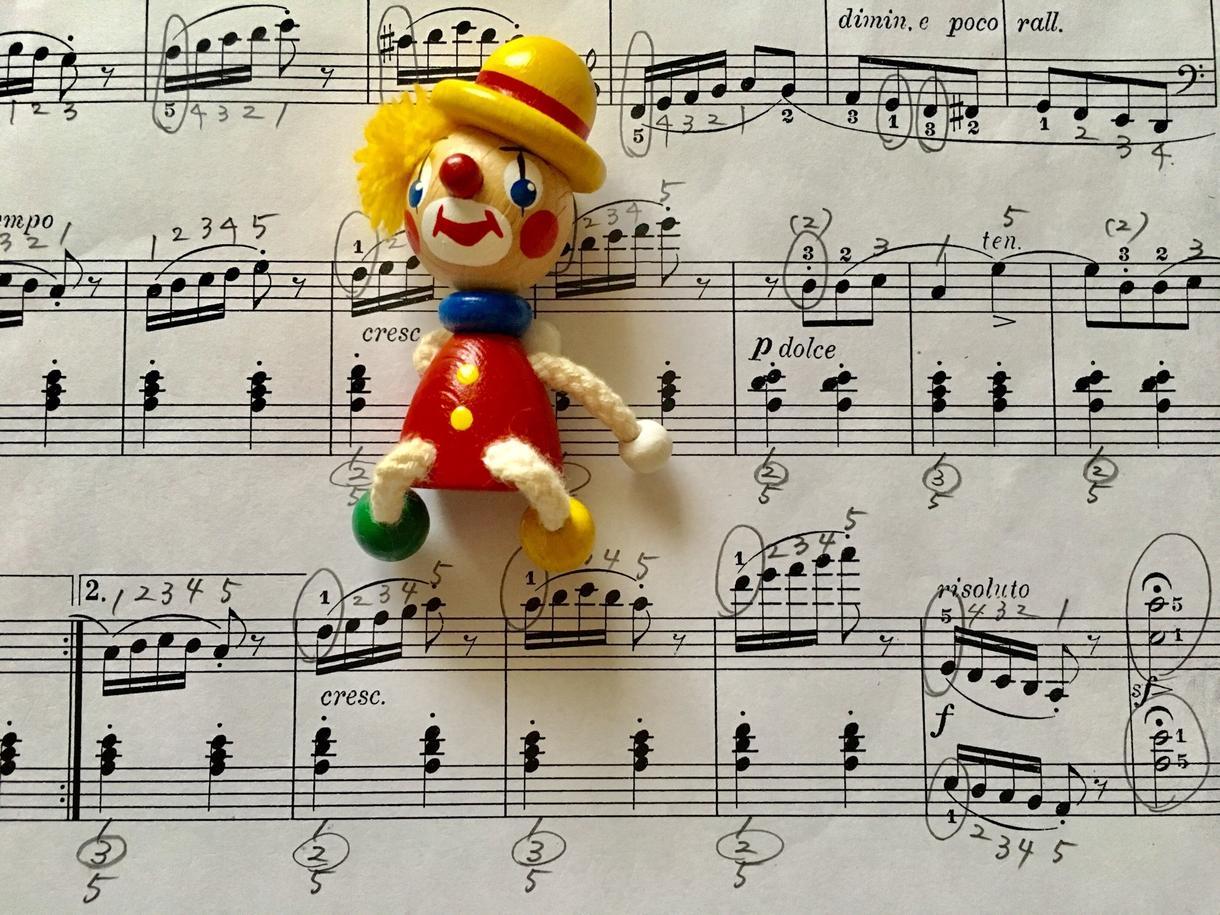 ピアノの楽譜に指番号を書込みます 〜あなたにとって弾きやすい指づかいで演奏するために〜