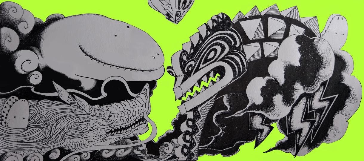 アナログペン画とデジタル彩色のイラスト描きます フライヤーや挿絵などにどうぞ!!
