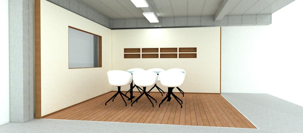 かっこいいオフィスの受付考えます(でも、工事はしませんので、近くの内装業者さんに頼んで下さいね)