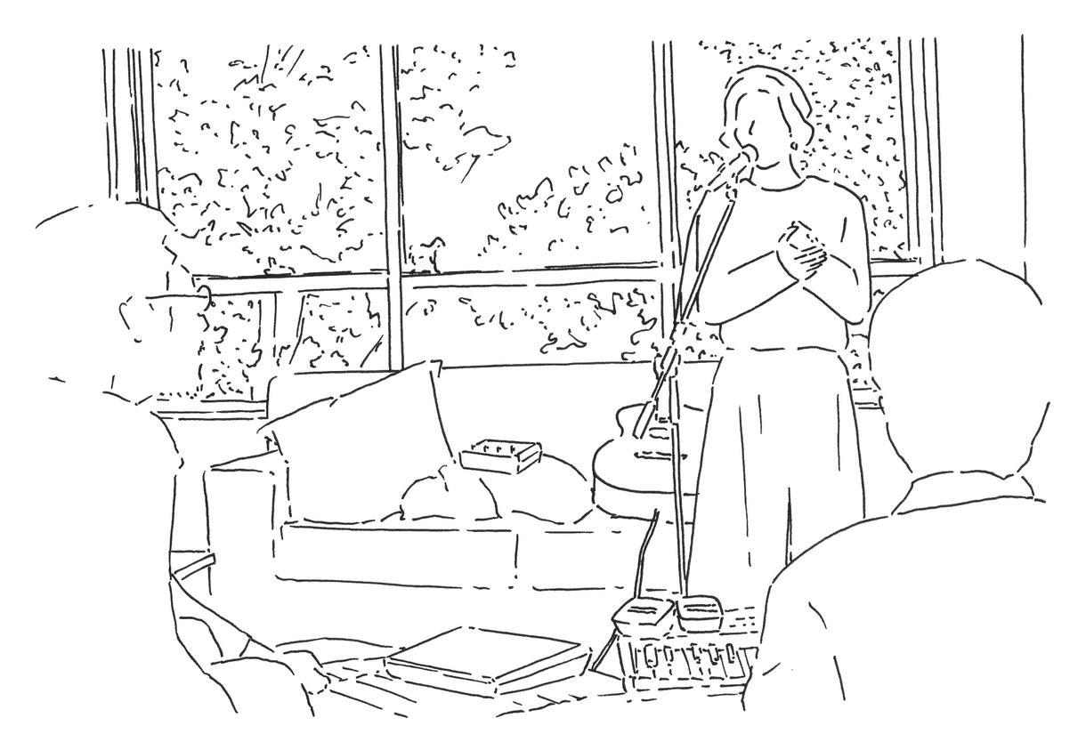 あなたの写真をおしゃれなペン画イラストにします 《モノクロ/シンプルなイラスト》構図など内容の制限あり