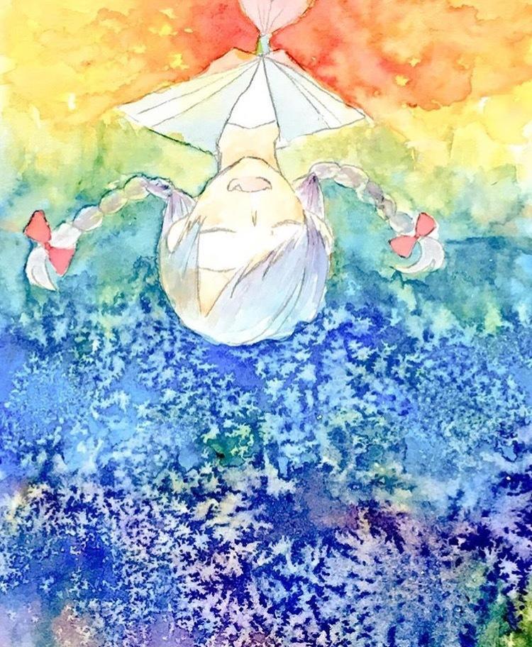 水彩で綺麗なイラストを描きます キラキラした空想の世界を透明水彩で