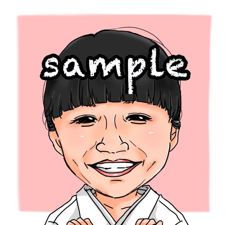 似顔絵を描きます 似顔絵を、SNSやHPのアイコンやプレゼントに!