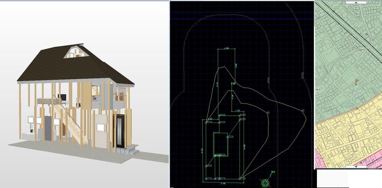 建築計画検討サポート致します その土地にあった建物ボリューム出しスピーディに対応致します!