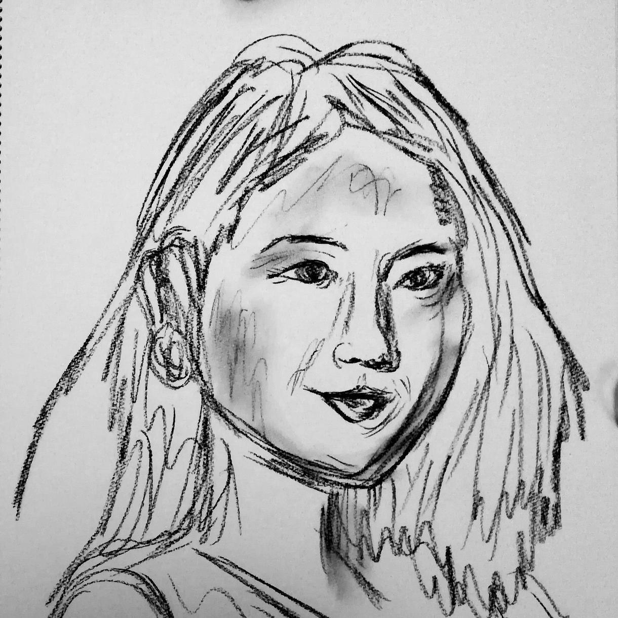 顔写真を元に手描きトレースで顔アイコンを描きます 【超速】写実的でお洒落な似顔絵 イメージ1