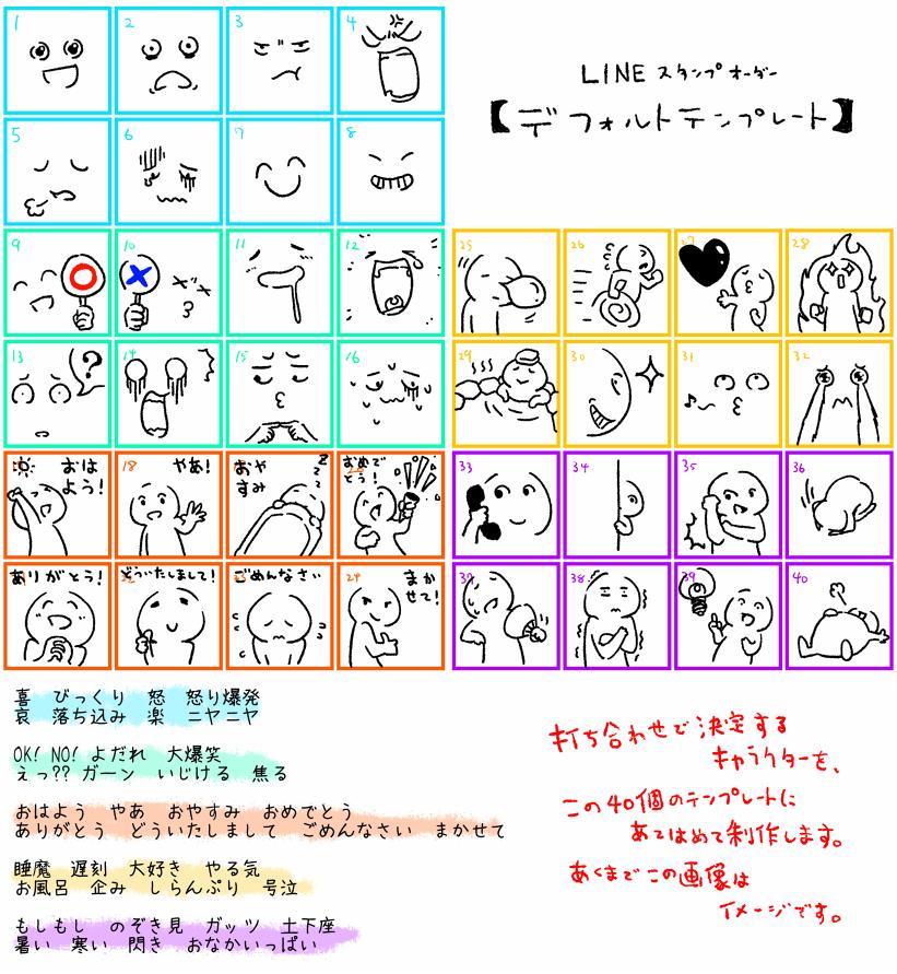 LINEクリエイターズスタンプを制作します あなただけのキャラクターで40個のオリジナルスタンプを!