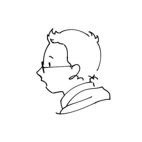 ペン画風でシンプルな横顔アイコンを描きます 【6/1より再開予定】SNSで映えるシンプルなアイコンです。