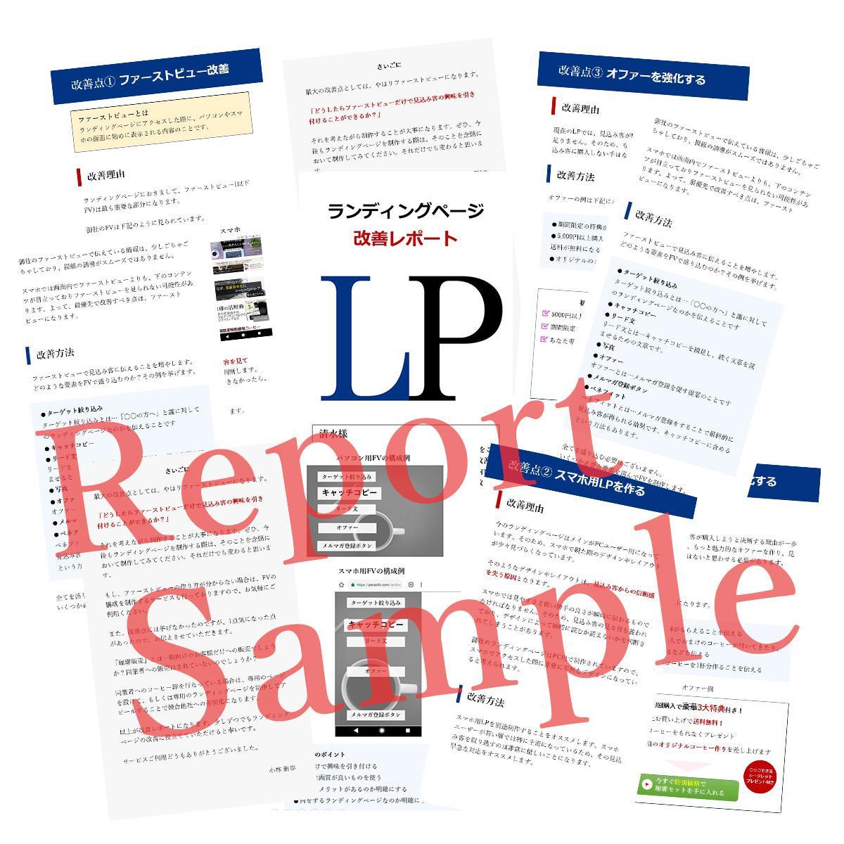 ランディングページのコンバージョン率改善提案します LP制作14年の経験から既存LPの改善点をレポート提出します
