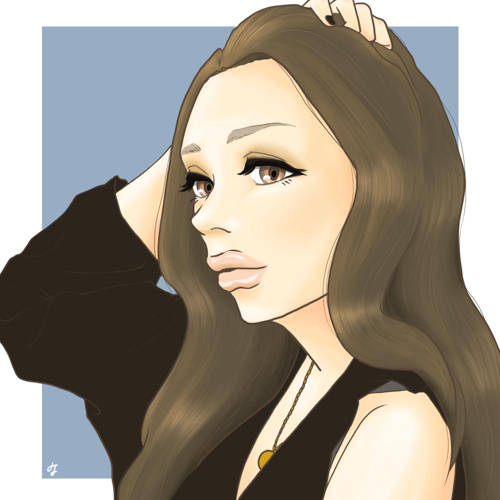 おしゃれな女の子のイラスト描きます ファッション好き必見!TwitterなどのSNSアイコンに♪
