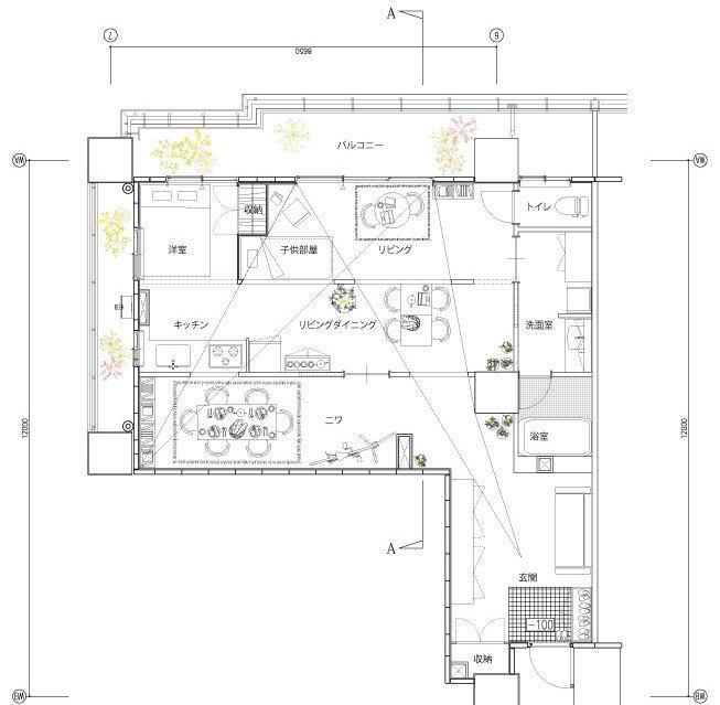 お家の間取りや店舗の間取り等CAD図面を作成します 引越しや店舗等の移転をお考えの方等