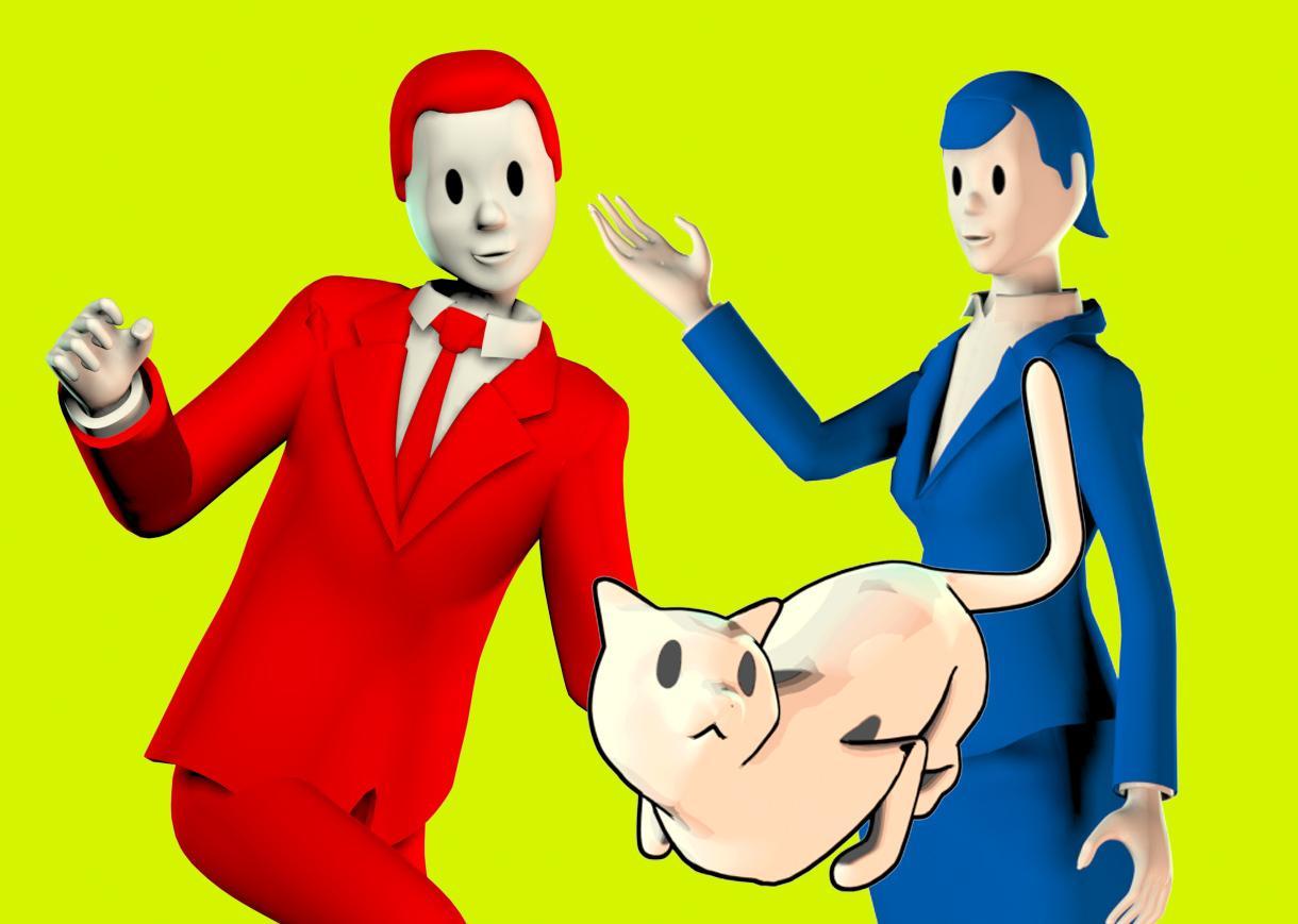 既存3Dキャラクターオリジナルポーズ画像作成します POP、広告、SNS向け画像などに