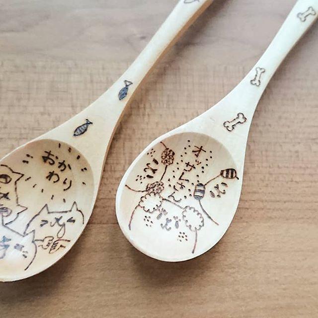 木製のものにウッドバーニングでデザインします 結婚式のウェルカムボードやカラトリーなど木製のものにオススメ