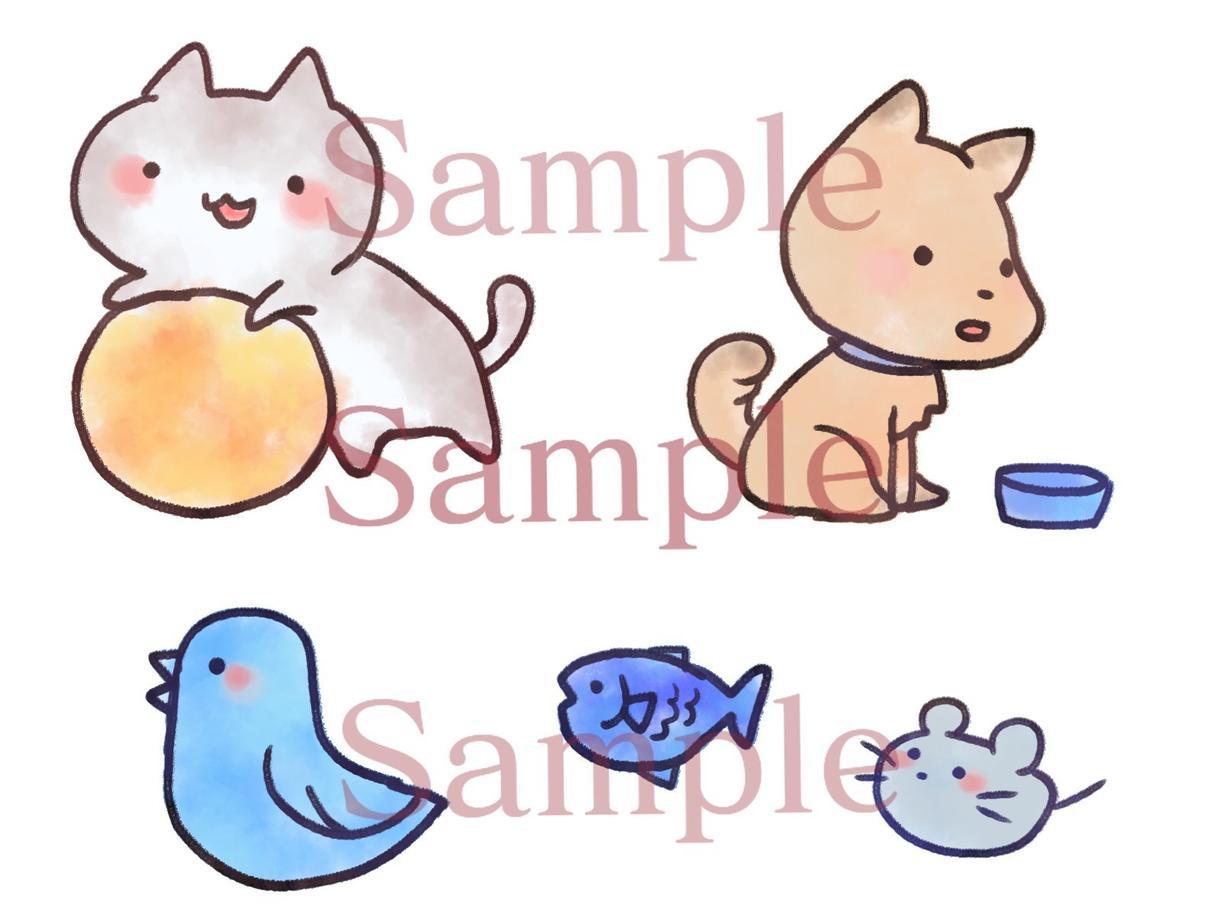 簡易版◆ゆるくて可愛い動物を描きます SNSアイコン、サイトのワンポイントなどに