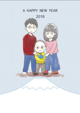 期間限定★年賀状に!ほんわかした似顔絵描きます 年賀状や、贈り物にぴったり。4人まで3000円!