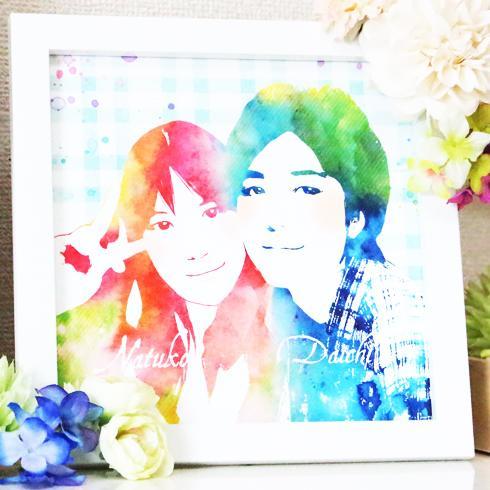 無料!水彩画風似顔絵を制作します。誕生日プレゼントやウェルカムボードに!【出店用モニター募集】