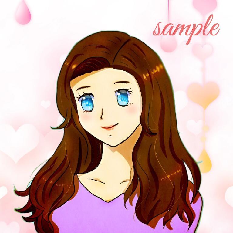 アニメ風の可愛らしいイラスト描きます アイコンなど使い方はさまざまです!