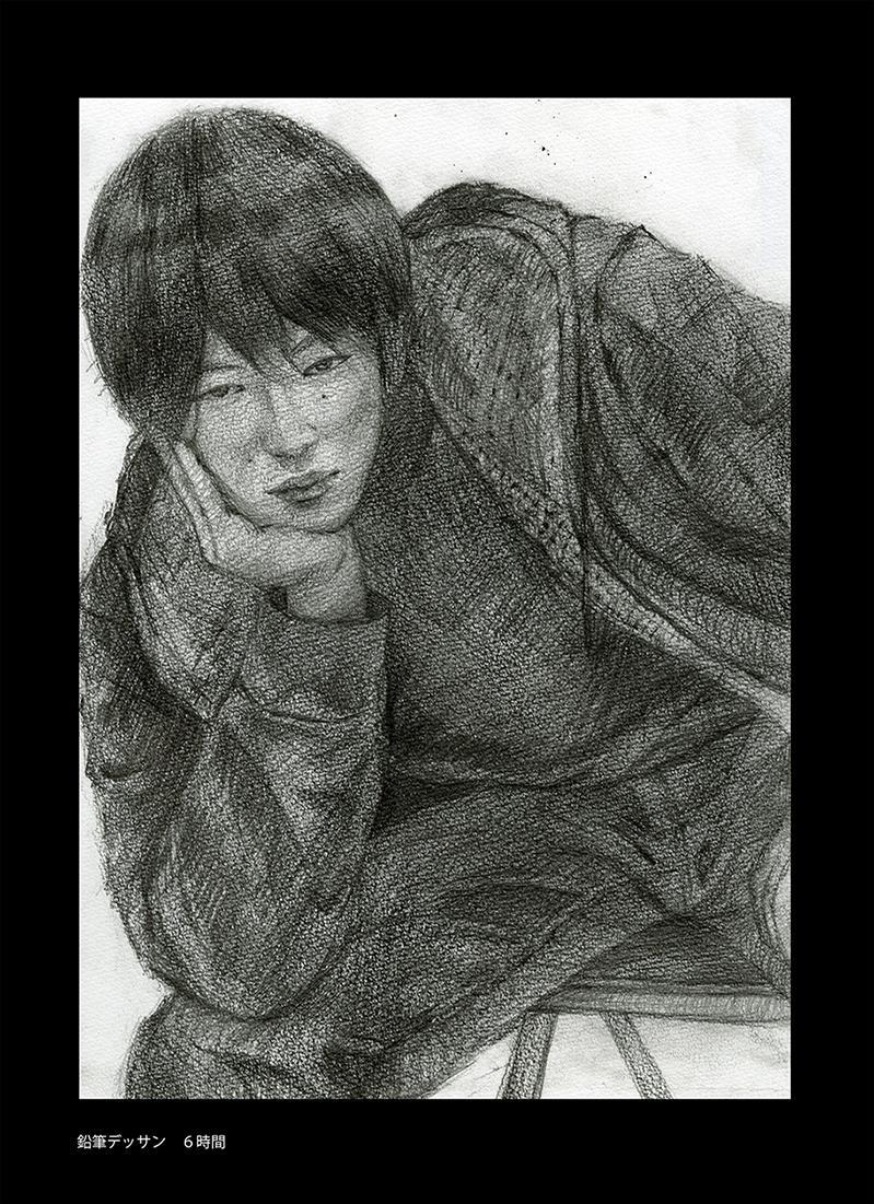 写真から鉛筆デッサン似顔絵をA4サイズで制作します 大切な人、大切な思い出を温かみのあるアートに。