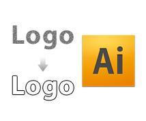 ロゴマーク等(画像データ)を、Illustratorでトレースし、お渡し致します。