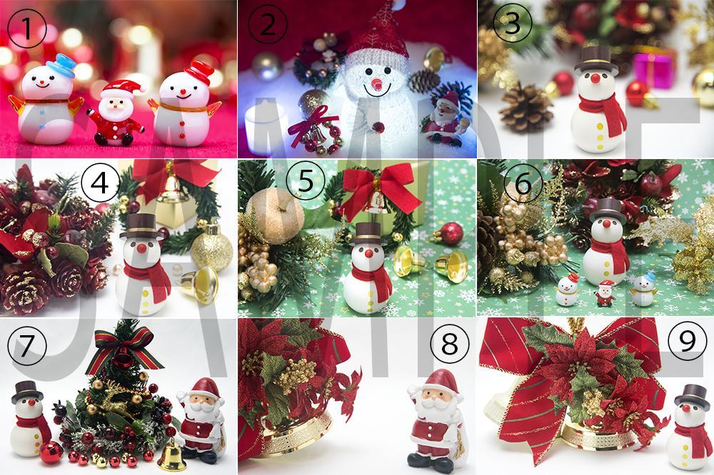 クリスマスポストカード用写真を提供します ポストカードやSNSにおすすめの可愛い雪だるまやサンタの写真