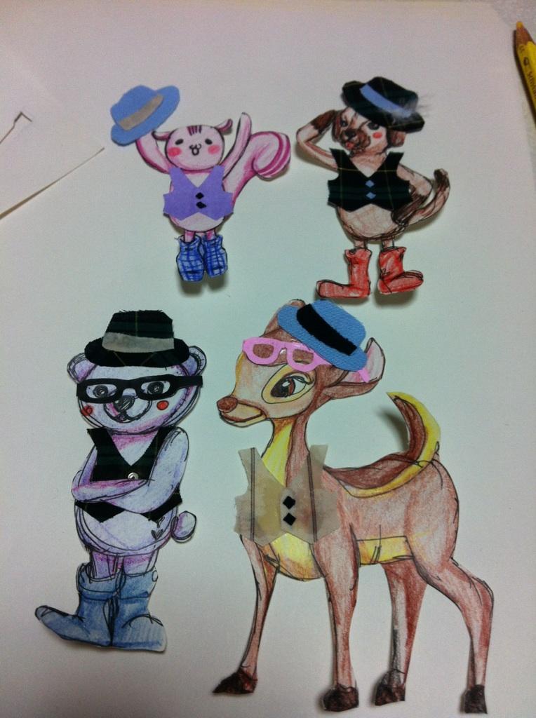 ご希望の動物のキャラクター風イラスト作成いたします☆