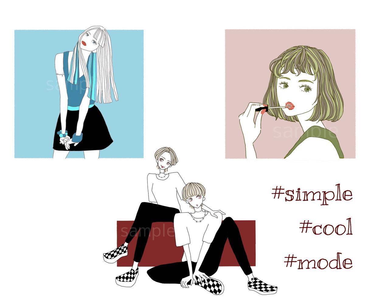 用途色々◎ レトロでおしゃれなイラストを描きます #GIRLY #POP #COOL #MODE