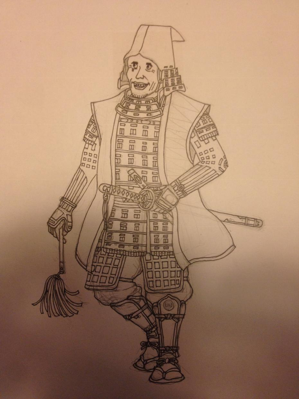 甲冑着せて似顔絵描きます ●全身を描写。●甲冑のデザインは応相談。