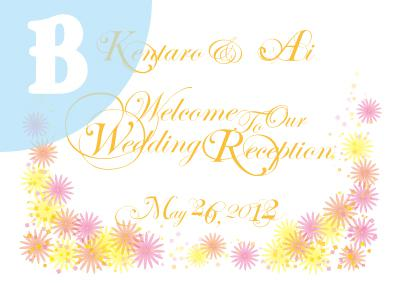 ♥ウェルカムボード♥結婚式&二次会/レセプション/パーティーに!