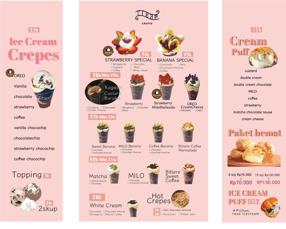 低価格!飲食店のメニュー、ポスターなど作ります 海外っぽくてパッと目を引く、ゆるくて可愛いデザイン イメージ1