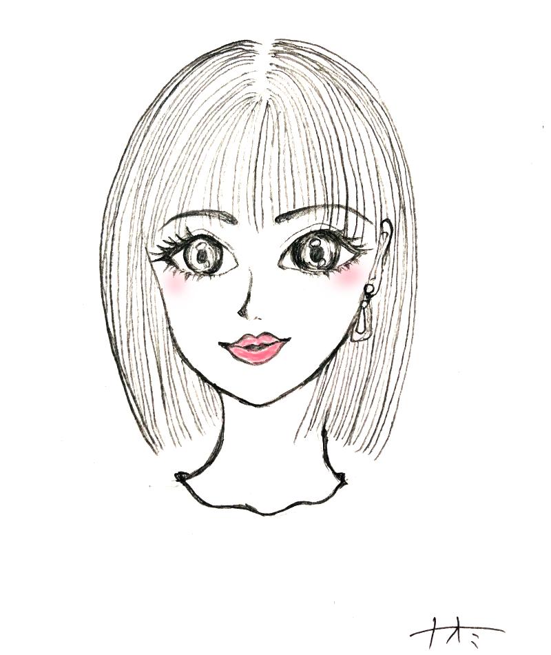 可愛いキラキラ似顔絵お描きします ぱっちり魅力的なキラキラ瞳の似顔絵仕上げます