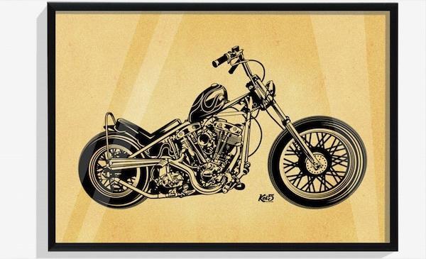 世界に1つだけ!あなたの愛車をデザイン製作します ご自分のバイクをインテリアに!お友達の愛車をお祝いに! イメージ1