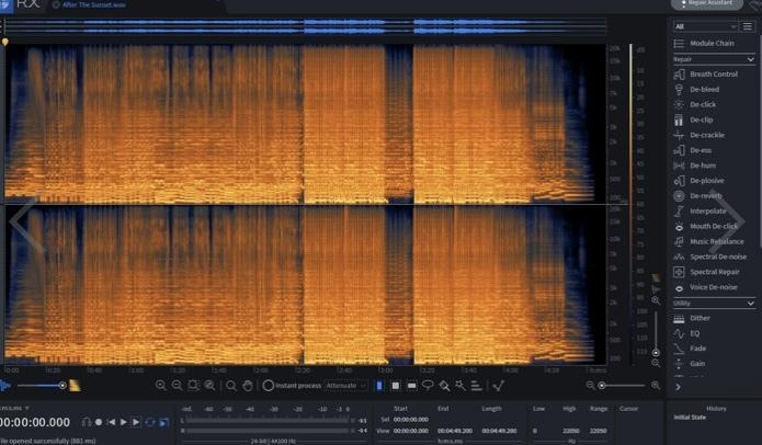 音声ファイルのノイズ・生活音を除去致します OKテイクに余分なノイズや生活音が入ってしまったものを除去 イメージ1
