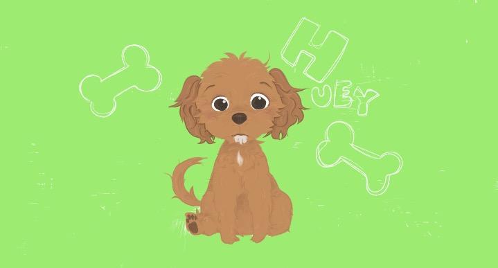 愛犬のイメージイラスト!夢の国風タッチで仕上げます 愛犬の似顔絵を希望している方へオススメ
