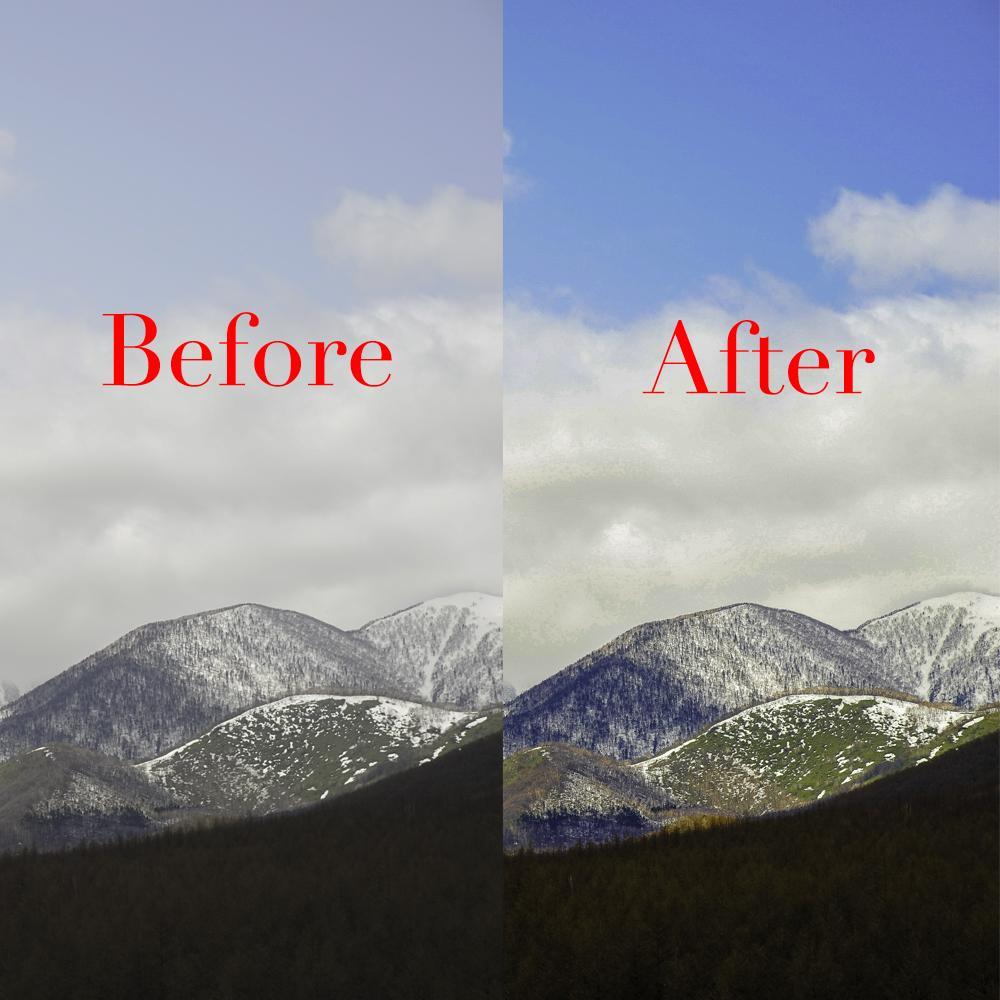 高品質な画像補正いたします 今まで撮った写真がワンランク上の品質にアップしました。