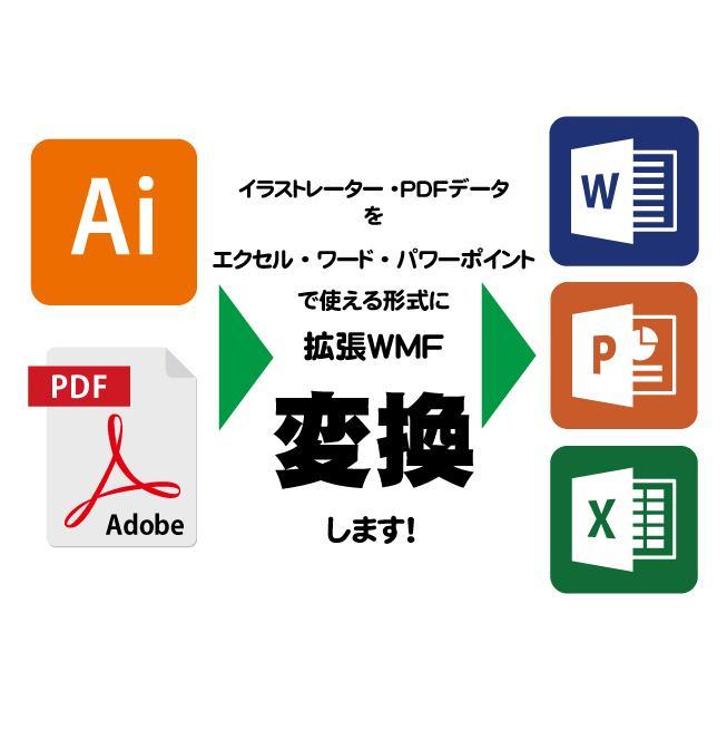 AIやPDFのデータをMSオフィス用に変換します ロゴやイラストをワードやエクセルで使える形式に変換します