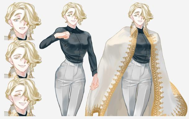 キャラクター立ち絵制作します 既存デザインの立ち絵一種類(上半身)+表情差分6枚のセット